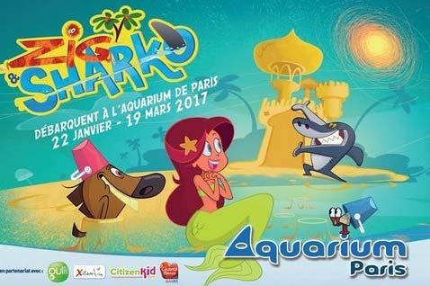 zig and sharko a l aquarium de paris